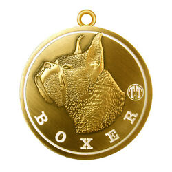 Boxer Dog ID Tag Limited Edition 1.5'' Diameter