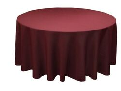 10 Pack 120 Inch Round Polyester Tablecloth 24 Color Table Cover Wedding Party