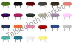 20 Pack 90 Inch Round Polyester Tablecloth 24 Color Table Cover Wedding Event
