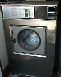 Wascomat Front Load Stainless Steel Washer Coin Op 50lb, 3ph, Model W-185 Es