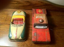 linemar japan fire chief tin friction car
