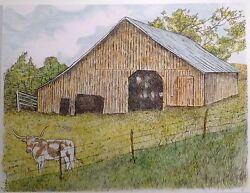 Old Barn - Ussmall Art Reproduction Artist Ink Realism Architecture