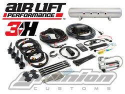 Air Lift 3h Digital Suspension Controller 3/8 Free Billet Arms Bluetooth Bag
