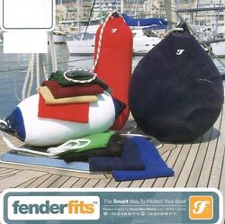 2 X Fender Fits Cover - Boat/yacht F1 Buoy Sock Navy 56x15cm Made In France