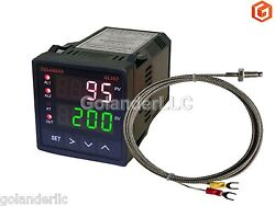 Dual Display Digital PID FC Temperature Controller with K Thermocouple116 DIN