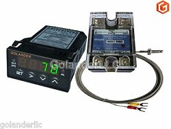Universal 132DIN PID Temperature Controller Green + 25A SSR + K thermocouple