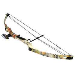 55 Lb Camouflage Camo Archery Hunting Compound Bow 150 80 50 40 Crossbow Arrows