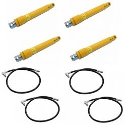 4 Snow Plow Angle Cylinder Rams And Hoses For Meyer 05810 21856 Snowplow Blade