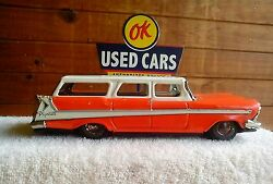 tin toy car plymouth fury station wagon