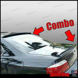 Combo Rear Roof Wing And Trunk Lip Spoiler Fits Acura Tl 1999-03 284r/244l