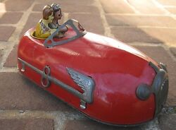 1930s windup art deco bumper car tin litho