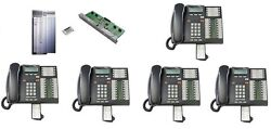 Nortel Norstar Phone System Cics 7.1 4x16 4 Lines 16 Exts And 5 T7316e Phones