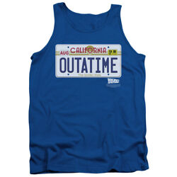 Back To The Future Science Fiction Movie Outatime Plate Adult Tank Top Shirt