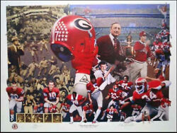 UGA UNIVERSITY OF GEORGIA BULLDOGS quot;First 100 Yearsquot; Large Signed Print