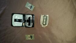 Antique Straight Razor Travel Kit By Gillette With Three Wrapped Razors