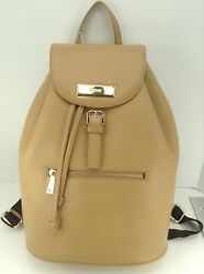 Women's DKNY XL Soft Tan LEATHER Backpack Style Handbag - $368 MSRP - Save $100