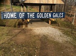 Lancaster Ohio Home Of The Golden Gales Vintage Sign From Fulton Field
