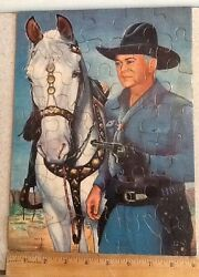 1950's Hopalong Cassidy 9 X 12 Puzzle By Kagran Toy Co.