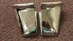 1955 Cadillac Rear Bumper Guards And License Plate Light Set