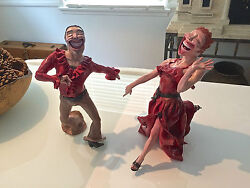 Amazing And Rare C. Kruger Salsa Dancers Sculpture Pottery One Of A Kind 2002