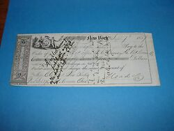 1857 New York Bank Check From Mead Paper Company Mt Vernon Ohio To Vore And Blake