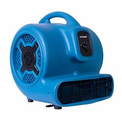 Xpower P-800 3/4 Hp Air Mover 3 Speed Commercial Carpet Dryer Floor Fan Blower