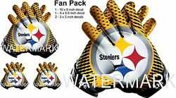 Pittsburgh Steelers 4life Car Window Or Wall Vinyl Stickers Glove Decals Fan Pk.