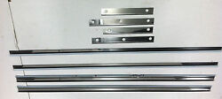 Ford Model A Running Board Stainless Steel Trim Set 8 Piece 1930