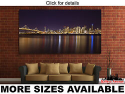 Wall Art Canvas Picture Print - San Francisco Ca Skyline At Night 2.1