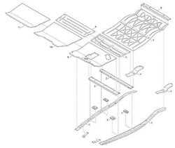 Ford Roadster Subframe Assembly With Flat Under Seat Pan 32 1932
