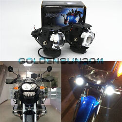 2x HID White Transformers Style U5 CREE LED Spot Lights For Motorcycle Kawasaki