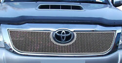 Toyota Hilux - Upper Grill - Silver Finish 2012 To 2015