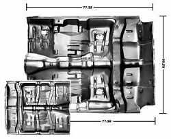 Pontiac Gto Complete Floor Pan A Body With Braces And Inner Rockers 1964-1967