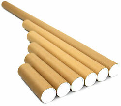 All Sizes Postal Tubes Royal Mail A0 A1 A2 A3 A4 Poster Packing + End Caps Art
