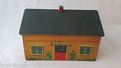 Painted Cottage Tunbridge Ware Sewing Boxc1820's