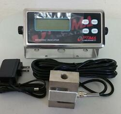 Compression Scale 20000 X 1 Lb S Type Load Cell/ Digital Indicator20and039 Cablenew