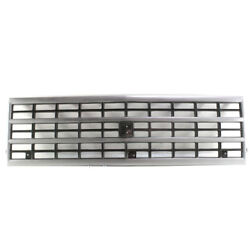 92-96 Chevy Fullsize Van Front Grill Grille Assembly Argent Gm1200360 15709687