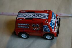 new yonezawa y metal tin toy friction fire