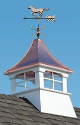 Accentua Charleston Cupola With Horse Weathervane, 24 In. Square, 53 In. High