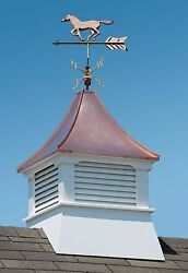 Accentua Olympia Cupola With Horse Weathervane, 24 In. Square, 52 In. High