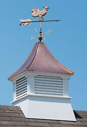 Accentua Olympia Cupola With Rooster Weathervane, 24 In. Square, 54 In. High