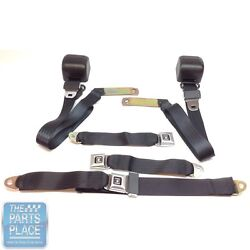 1978-88 Gm G Body Cars Factory Style Front Bench Seat Belt - Black