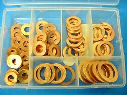 Fit Olds Caddy 81pc 1/4- 5/8brake Hose Caliper Copper Sealing Washer Kit Nos