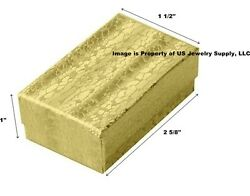 Wholesale Lot 1000 Gold Cotton Fill Jewelry Display Packaging Gift Boxes 2 5/8