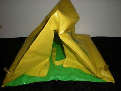 1970s zee toys tent yellow inflatable for