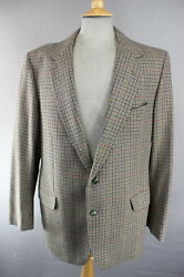 CLASSIC MAGEE PURE WOOL CHECKED GREEN DUNEAGLE TWIST TWEED JACKET 42 INCH