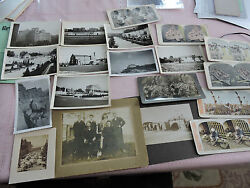 Photographic Lot 1910 Stereoviews + Photos Mixed Usa + Europe, Early - Modern Sv