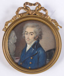 Portrait Of An Official Period Of Directory, French Fine Miniature, 1795/18