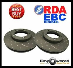 DIMPLED SLOTTED FRONT DISC BRAKE ROTORS Fits BMW E82 E88 135i 2008-13 RDA8163D
