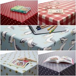 Clarke And Clarke Pvc Oilcloth Wipe Clean Fabric Tablecloth Vinyl Round Rectangle